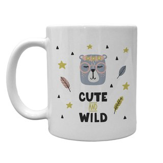 Caneca Branca Cute and Wild