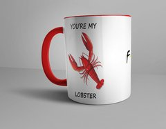 Caneca Vermelha You're my Lobster Série Friends - comprar online
