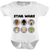 Body Baby Infantil Star Wars Personagens Baby