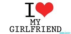 Caneca I Love my Girlfriend - Cartoon Mania