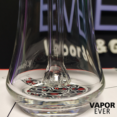 Bubbler de Borosilicato K.Haring Glass Red Black and White - VaporEver - comprar online