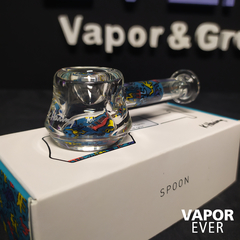 Pipa de Borosilicato K. Haring Glass  Spoon Pipe Multi Blue - VaporEver