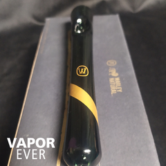 Pipa de vidrio ahumado Marley Natural Steamroller Gold Stripe Decal - VaporEver