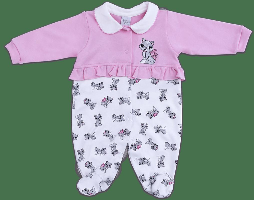macacão bebe feminino gatinha rosa. 0% OFF. A Tpz kids ... 0b2c5891727