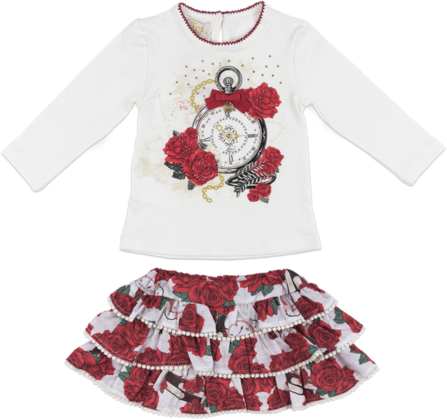 3cd9804ad0 Conjunto Feminino Rosas vermelhas