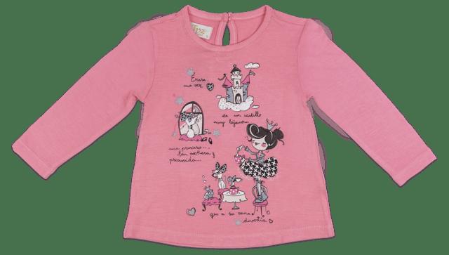 blusa feminina infantil manga longa rosa 6825b9c05eb