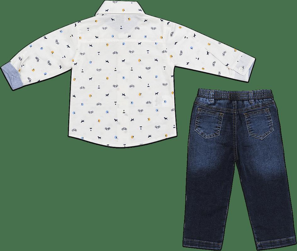 12246811e Conjunto Masculino Infantil Calça Jeans - TPZ KIDS