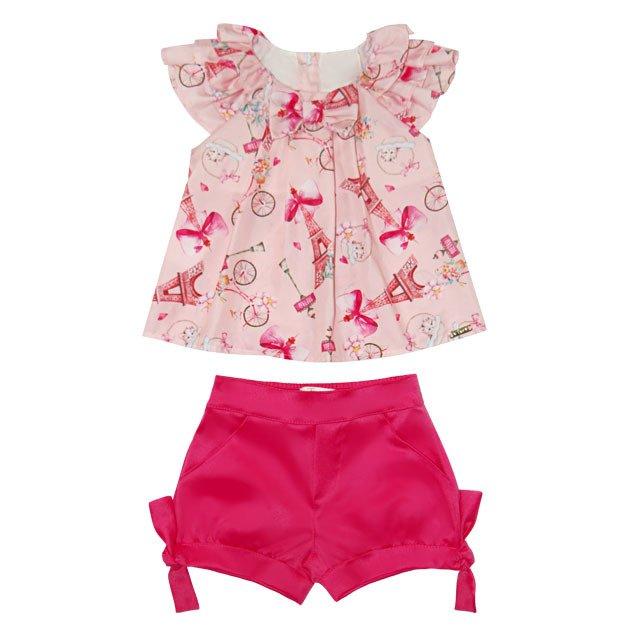 e905060867 Conjunto Feminino Shorts Pink