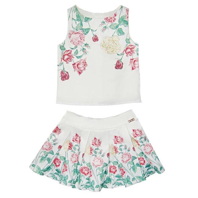 ab83c61d31 Conjunto Feminino Off-white Flores