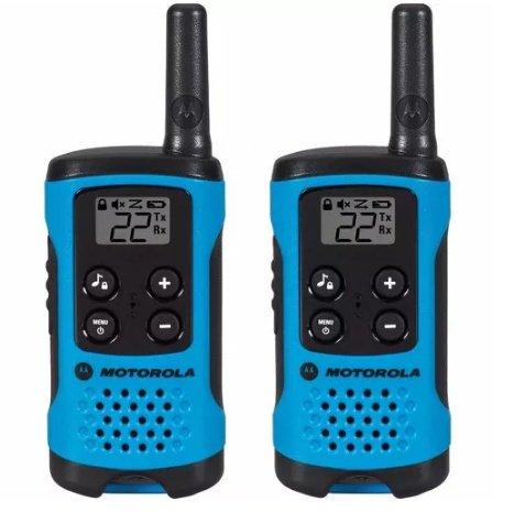 Par Rádio Comunicador Motorola Talkabout 25km Azul