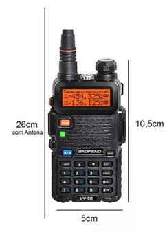 Kit 10 Radio Ht Uv-5r Comunicador Baofeng Dual Band Airsoft