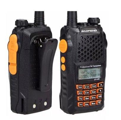 Radio Comunicador Segurança Baofeng Uv 6r Syc + Fo......