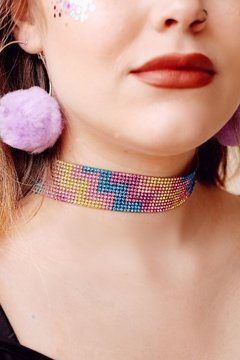 Choker strass color