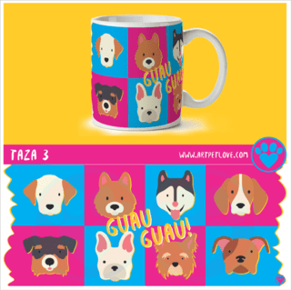 Taza 3 Art Pet Love