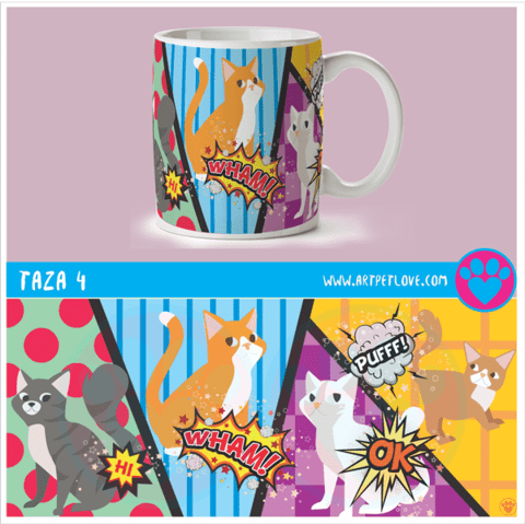 Taza 4 Art Pet Love