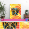 "Cuadro Art Pet Love ""Pug""."