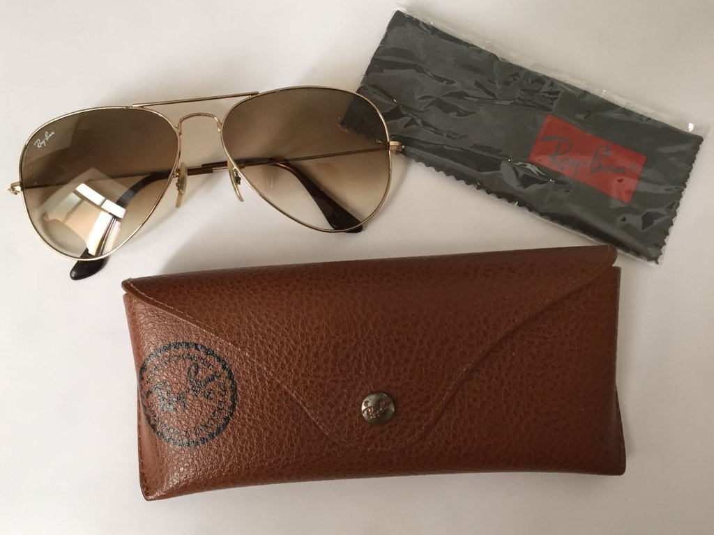 Ray Ban Aviator Lente Marrom Degrade   Louisiana Bucket Brigade 64a81637da
