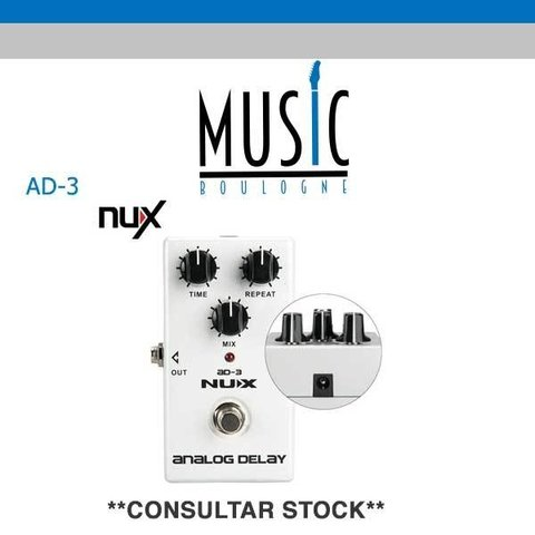 NUX Pedal analogo DELAY AD-3 Music Boulogne BRY
