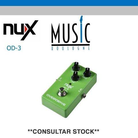 NUX OD-3 Pedal análogo VINTAGE OVER DRIVE-Music Boulogne BRY