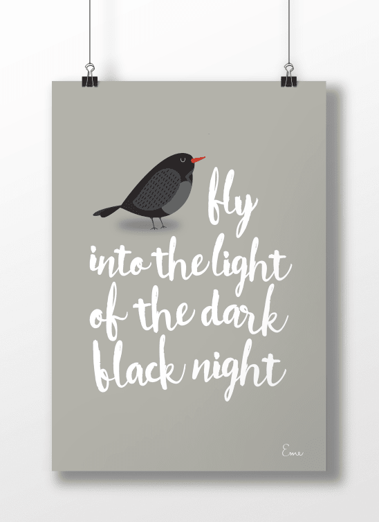 Blackbird Fondo Color - Serie Canciones en internet