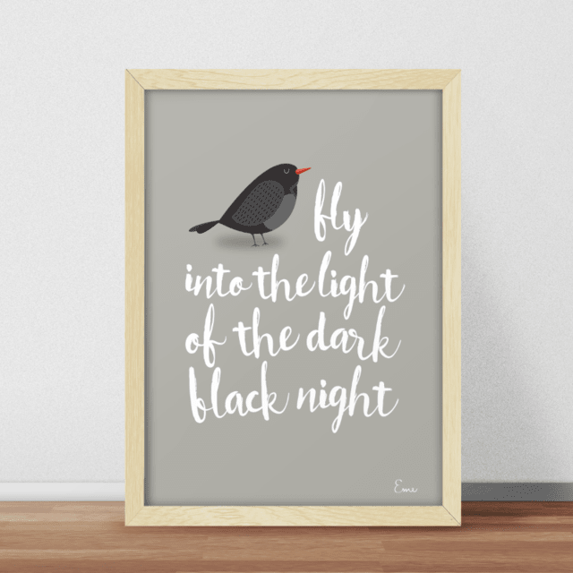 Blackbird Fondo Color - Serie Canciones
