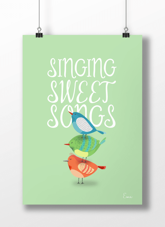 Sweet Songs Fondo Color - Serie Canciones en internet
