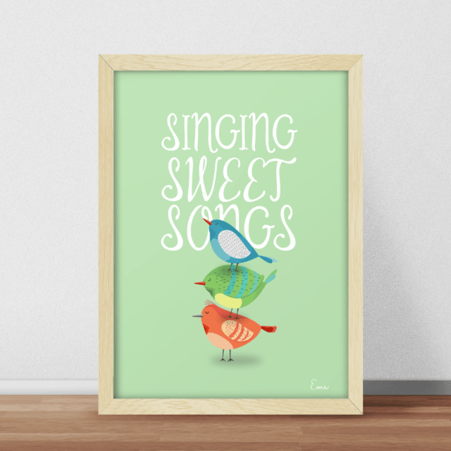 Sweet Songs Fondo Color - Serie Canciones