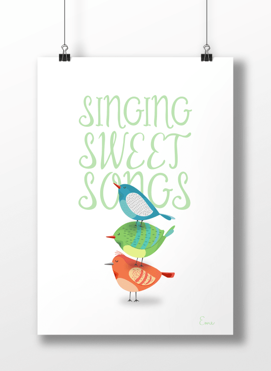 Sweet Songs Fondo Blanco - Serie Canciones en internet