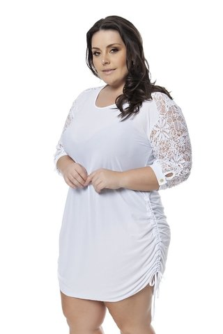 SAÍDA PLUS SIZE ACQUA ROSA - BEAUTIFUL WHITE