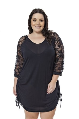 SAÍDA PLUS SIZE ACQUA ROSA - BEAUTIFUL PRETO