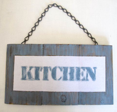 cartel KITCHEN azul