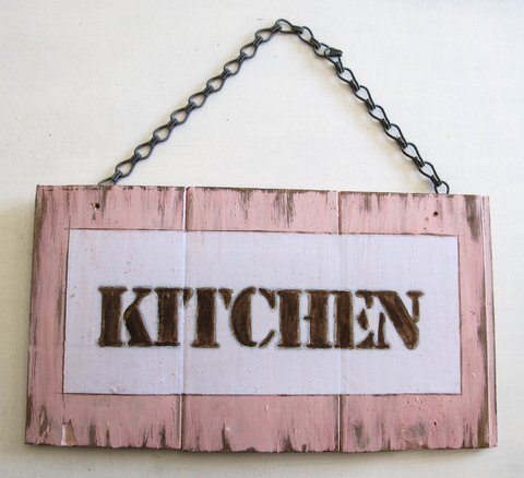 Cartel KITCHEN rosa