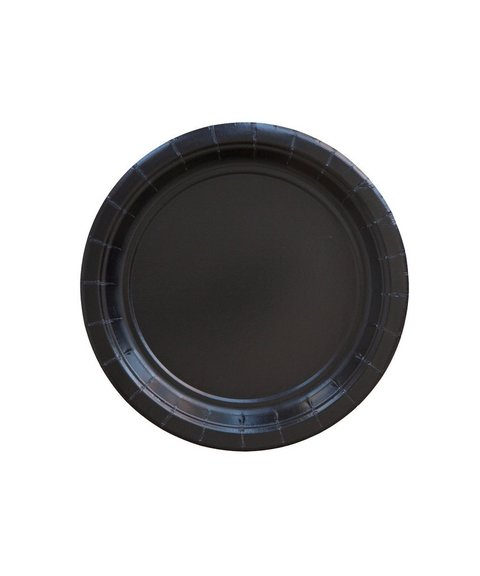 BASIC SMALL PLATE BLACK 18 CM