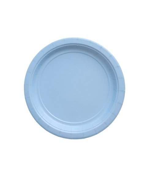 BASIC SMALL PLATE LIGHT BLUE 18 CM