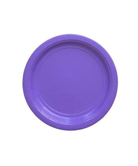 BASIC SMALL PLATE VIOLET 18 CM
