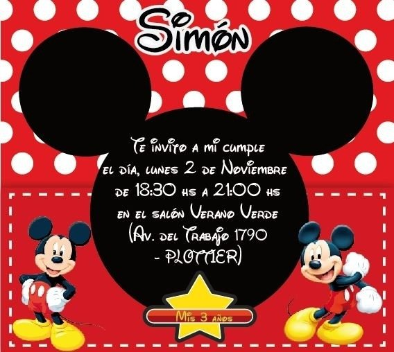 Tarjeta Mickey (TRJSF0036) - PIRULETAS SOUVENIRS