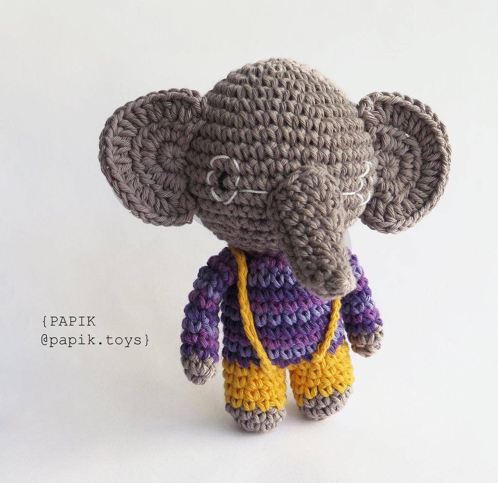 ALFREDO the Elephant Toy - Crochet Elephant - Stuffed Elephant ... | 992x1024