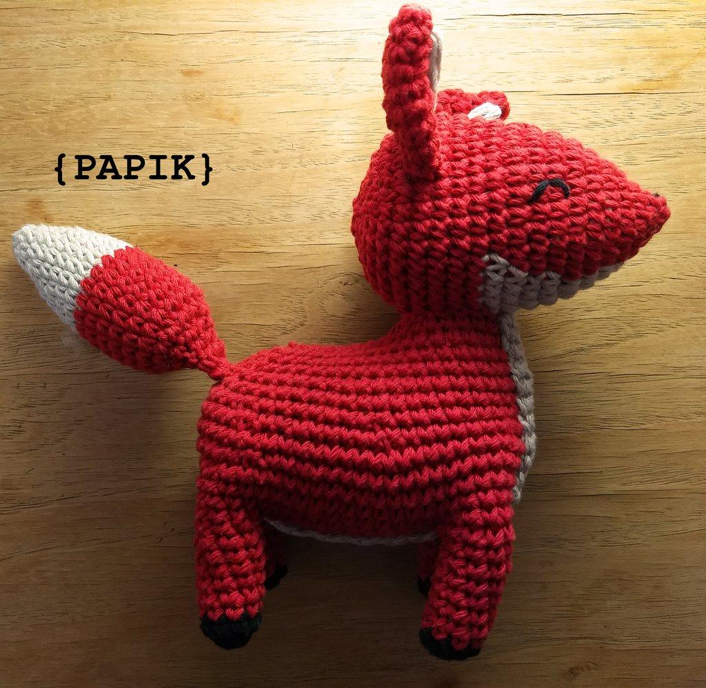 PATTERN: Red Fox | Patrones amigurumi, Zorro deganchillo y Patrón ... | 998x1024