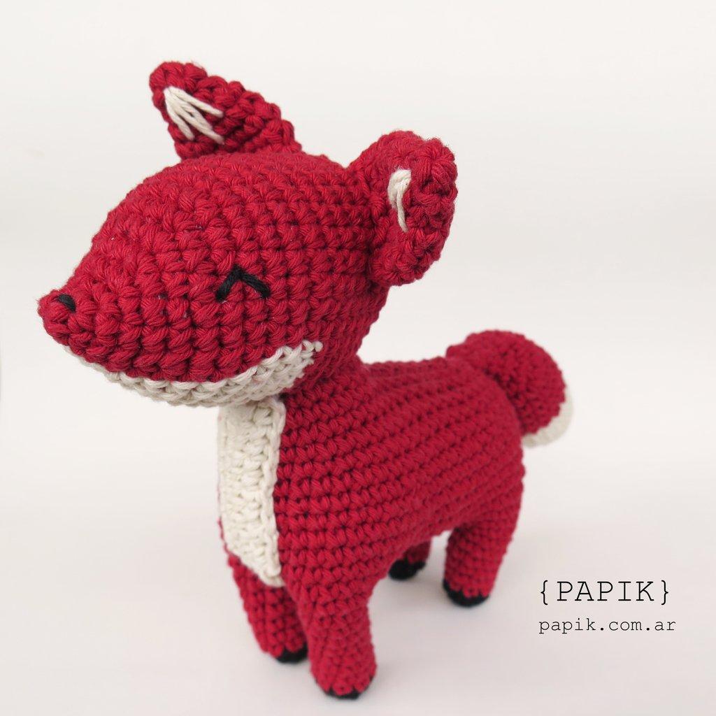 Mini Red Fox Amigurumi - Micro Dollhouse Miniature Crochet Tiny ... | 1024x1024