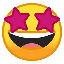 🤩 Cara Sonriendo Con Estrellas Emoji