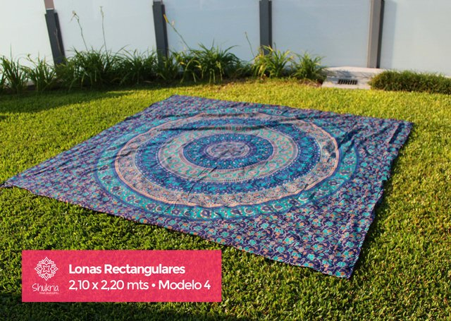 ¡NUEVAS! Lonas Mandalas Rectangulares 2,10 x 2,20 mts - Shukria Travel Accessories