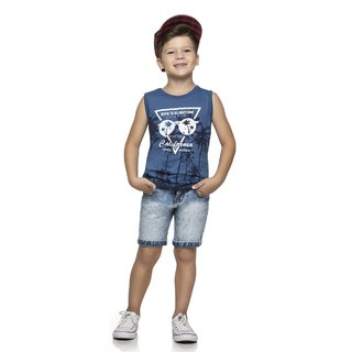 Regata Infantil Romitex Azul Denim