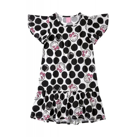 Vestido Hello Kitty Infantil Preto 88149