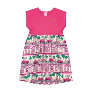 Vestido Hello Kitty Rosa Estampado 88169