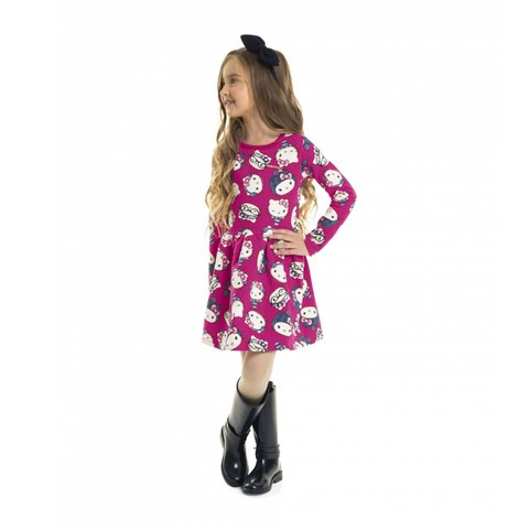 Vestido Molecotton Hello Kitty Rosa 88177