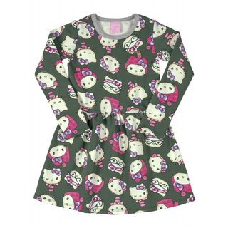 Vestido Molecotton Hello Kitty Verde 88177