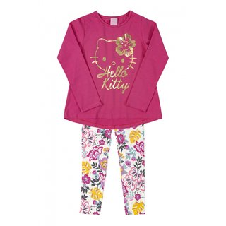 Conjunto Hello kitty Blusa e Legging Rosa 88179