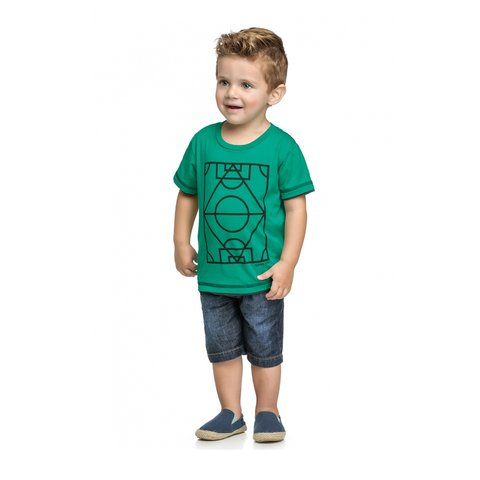 Camiseta Up Baby Infantil Verde 27448 na internet