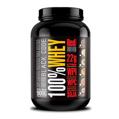 Pote com BLACK CODE 100% WHEY 900G - RED SERIES
