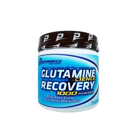 Pote com GLUTAMINE SCIENCE RECOVERY 1000 POWDER 300G - PERFORMANCE NUTRITION